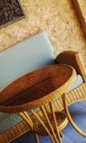 Muebles de mimbre Foto de archivo libre de regalías