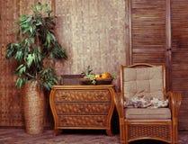 Muebles de mimbre Fotografía de archivo