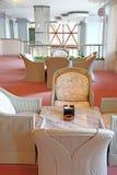 Muebles de mimbre ocasionales Fotografía de archivo libre de regalías