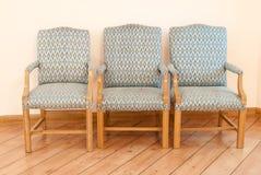 Muebles de tres sillas de la cocina Foto de archivo