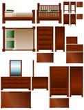 Muebles del dormitorio stock de ilustración