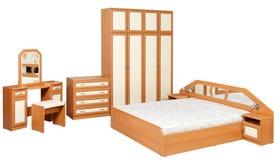 Muebles del dormitorio aislados Imagen de archivo libre de regalías