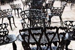 Muebles del hierro labrado Fotografía de archivo libre de regalías