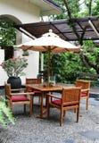 Muebles del jardín. Fotos de archivo