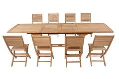 Muebles del jardín de la teca, sistema de los muebles del jardín Fotografía de archivo