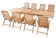 Muebles del jardín de la teca, sistema de los muebles del jardín Imágenes de archivo libres de regalías