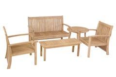 Muebles del jardín de la teca, sistema de los muebles del jardín Foto de archivo libre de regalías
