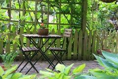 Muebles del patio fotografía de archivo