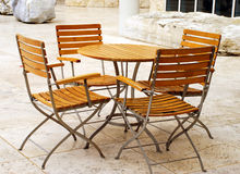 Muebles del patio Imagen de archivo libre de regalías
