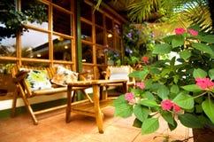 Muebles del patio Fotografía de archivo libre de regalías