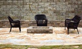 Muebles del patio Foto de archivo