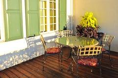 Muebles del patio Foto de archivo libre de regalías