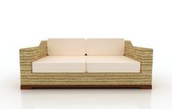 Muebles del sofá del ocioso de la playa stock de ilustración