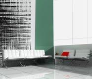 Muebles en oficina de la batería libre illustration
