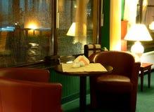 Muebles en pasillo del hotel Fotos de archivo libres de regalías