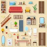 Muebles fijados para los cuartos de la casa Imagen de archivo
