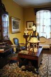 Muebles históricos y artículos coloridos usados por la familia de Walworth, casino de Canfield, Saratoga Springs, Nueva York, 201 fotografía de archivo libre de regalías