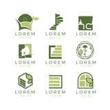 Muebles Logo Set Imagenes de archivo