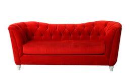 Muebles rojos aislados imágenes de archivo libres de regalías