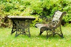 Muebles viejos del hierro Foto de archivo libre de regalías