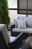 Muebles vivos al aire libre del patio Imágenes de archivo libres de regalías