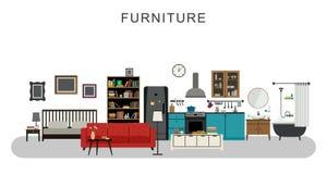 Muebles y decoración casera Foto de archivo libre de regalías