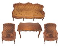Muebles y silla Fotografía de archivo