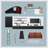 Muebles y sistema casero de la decoración Foto de archivo