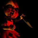 Muñeca 17 de Víspera de Todos los Santos - atormentada Foto de archivo libre de regalías