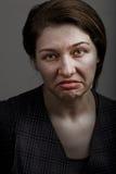Mueca de la mujer decepcionante triste infeliz foto de archivo libre de regalías