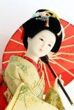 Muñeca japonesa del geisha Imagen de archivo libre de regalías