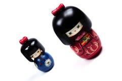 Muñecas de Kokeshi Imagen de archivo