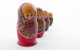 Muñecas de Matryoshka Fotografía de archivo