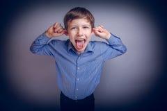 Muecas europeas del marrón del aspecto del adolescente del muchacho Fotografía de archivo libre de regalías