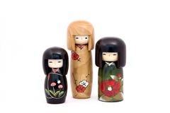Muñecas japonesas de Kokeshi Foto de archivo libre de regalías