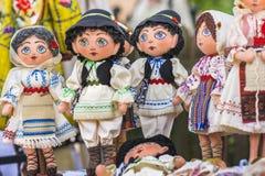 Muñecas rumanas tradicionales Foto de archivo libre de regalías
