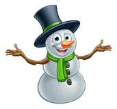 Muñeco de nieve de la Navidad de la historieta Foto de archivo libre de regalías