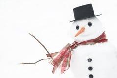Muñeco de nieve del invierno Fotografía de archivo