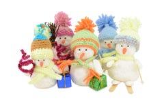 Muñecos de nieve Imagen de archivo libre de regalías
