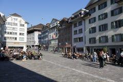 Muehlenplatz在卢赛恩,瑞士 免版税库存照片
