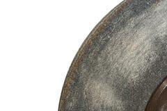 muela abrasiva en un fondo blanco imagenes de archivo