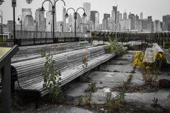 Muelle abandonado de la nave Fotos de archivo libres de regalías