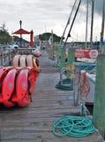 Muelle atlántico del barco de la playa Imagen de archivo libre de regalías