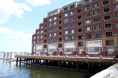 Muelle Boston de Rowes Foto de archivo libre de regalías