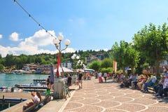 muelle Centro turístico Velden Worthersee austria Fotografía de archivo libre de regalías