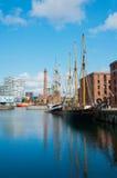 Muelle de Albert, Liverpool, Reino Unido Fotografía de archivo