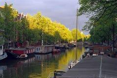 Muelle de Amsterdam Imagen de archivo libre de regalías