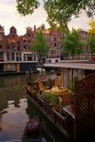 Muelle de Amsterdam Imágenes de archivo libres de regalías