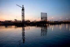 Muelle de descarga del petrolero Fotografía de archivo libre de regalías