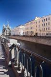 Muelle de Griboedova, StPetersburg, Rusia Imagen de archivo